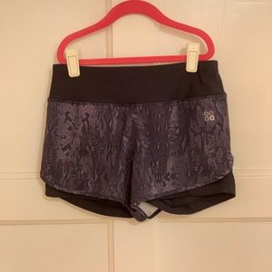 Women's snakeskin shorts with spandex
